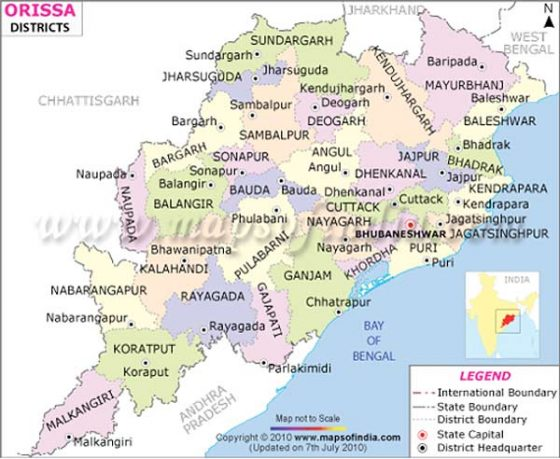 Districts in Odisha, India.